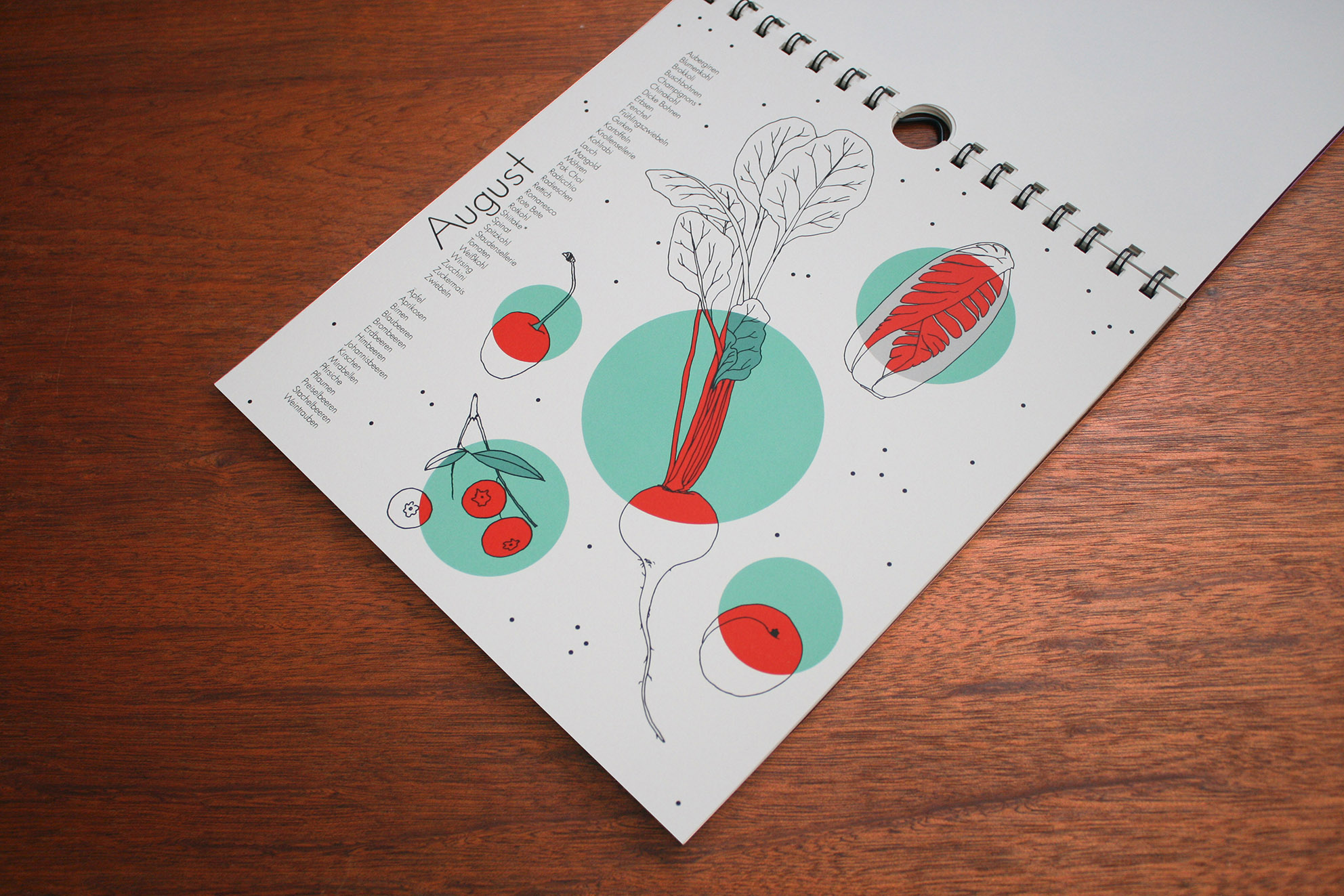 design saisonkalender Obst und Gemüse polypodium illustration