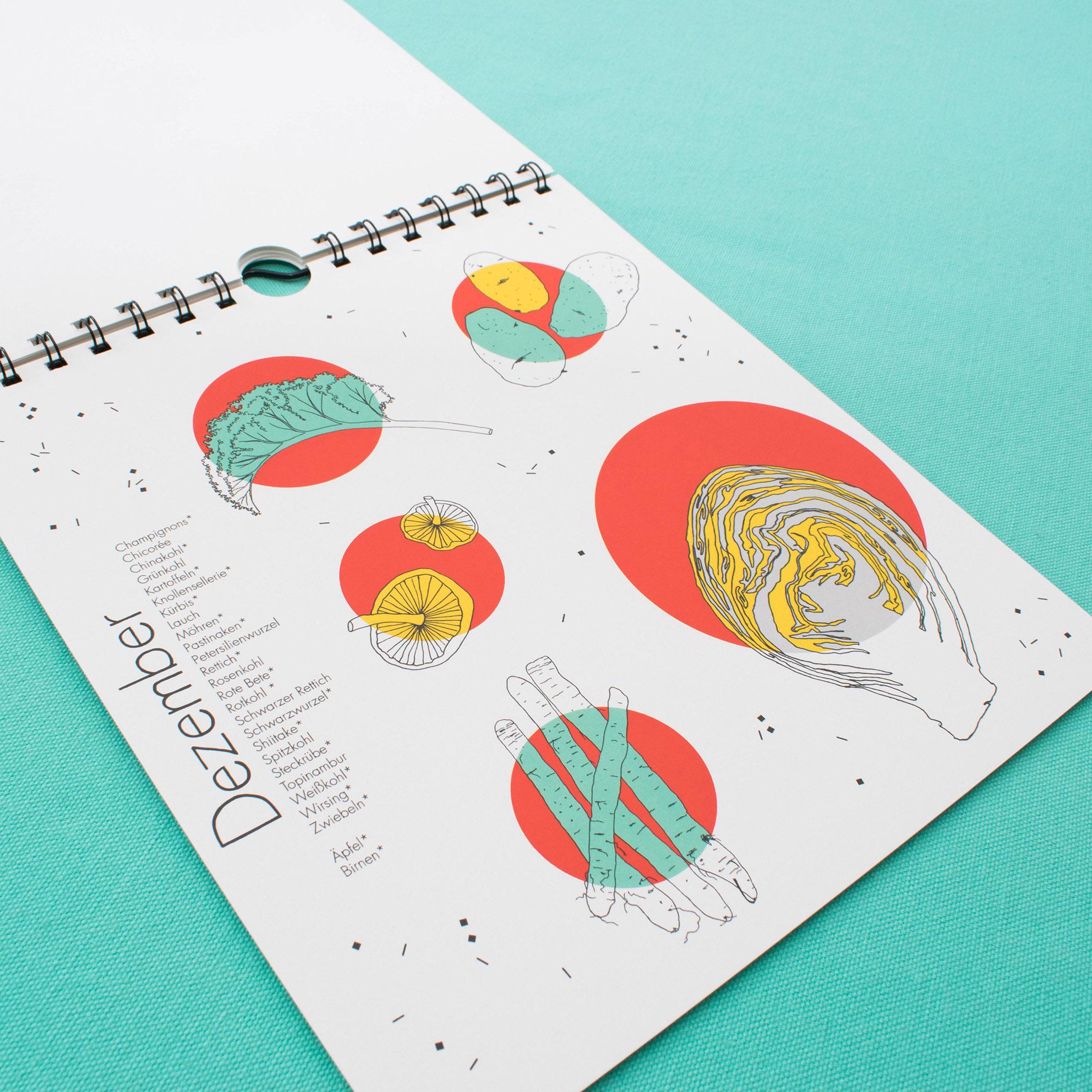 design saisonkalender Obst und Gemüse polypodium illustration kalender nachhaltig illustration regional
