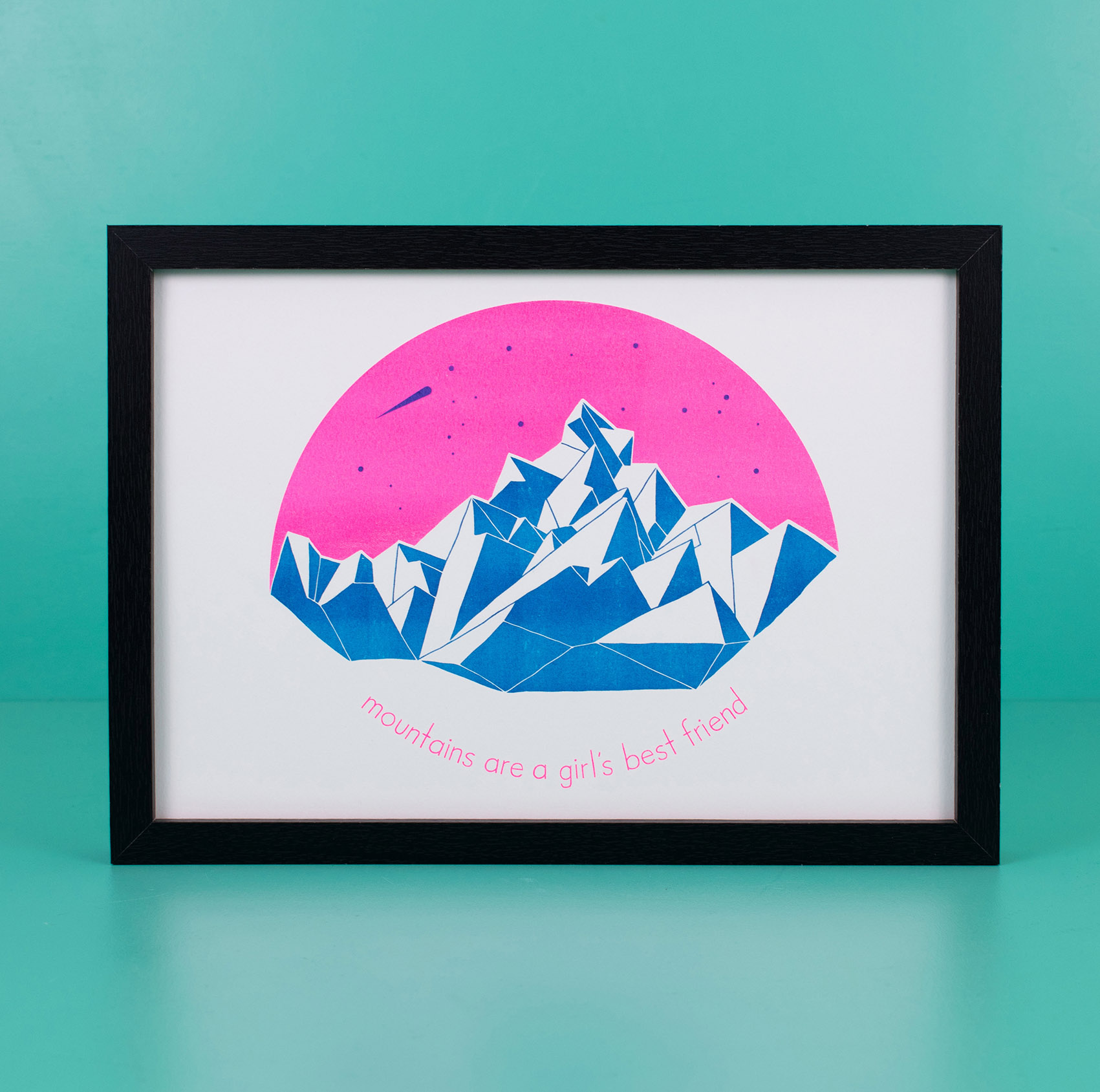 risographie risography riso print mountains outdoor
