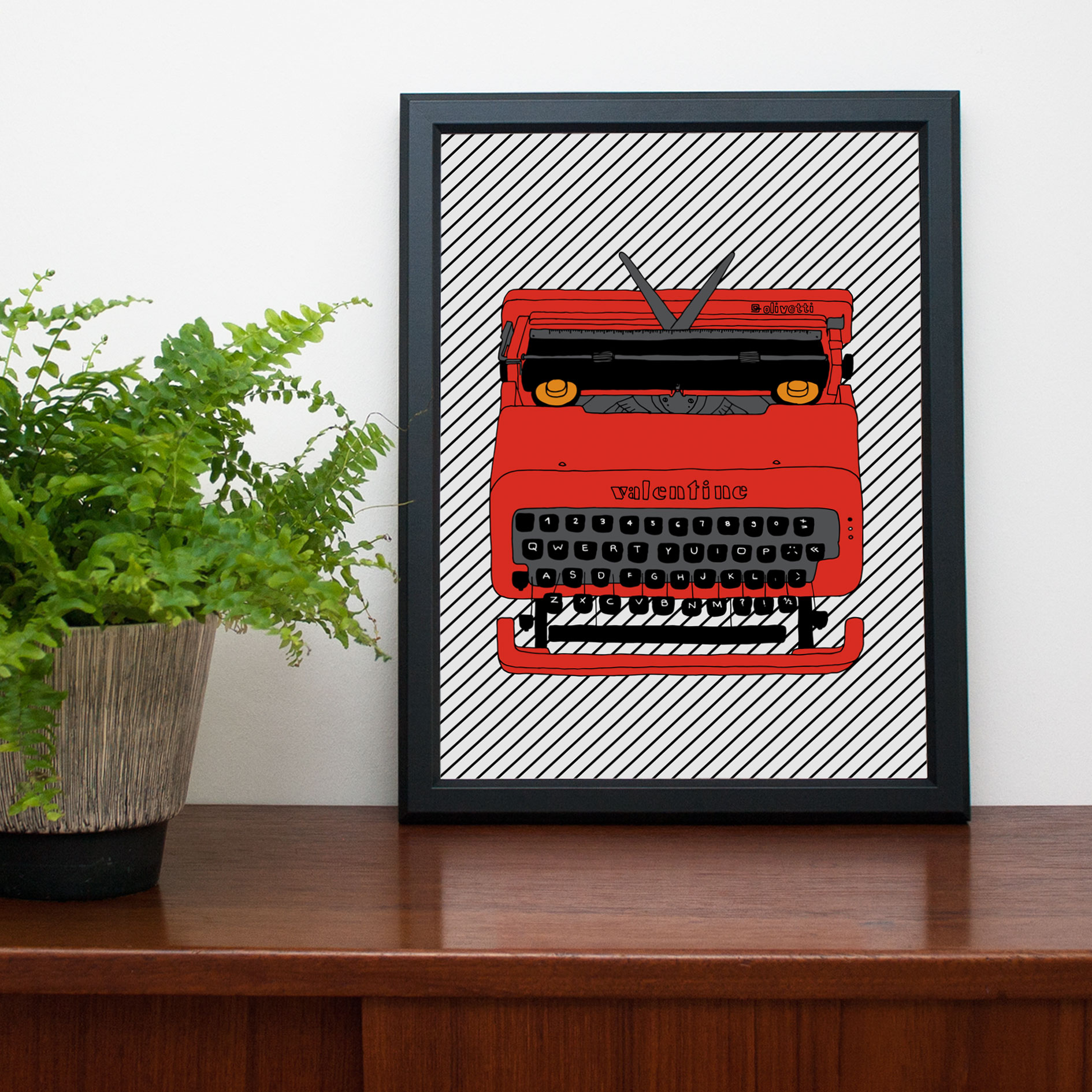 valentine polypodium typewriter